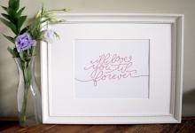 I'll Love you Til Forever Hand Lettered Art Print