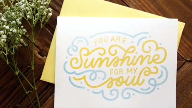 You Are Sunshine For My Soul Greeting Card