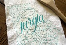 Georgia Home State Love Tea Towel