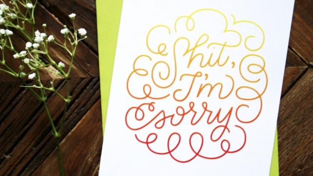 I'm Sorry - Sympathy Greeting Card