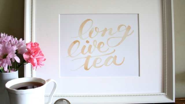 Long Live Tea Art Print