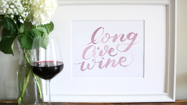 Long Live Wine Art Print