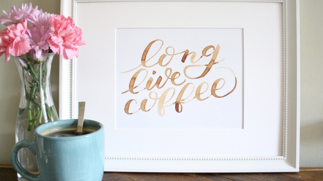 Long Live Coffee Art Print