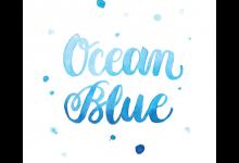 Ocean Blue Custom Hand Lettered Print