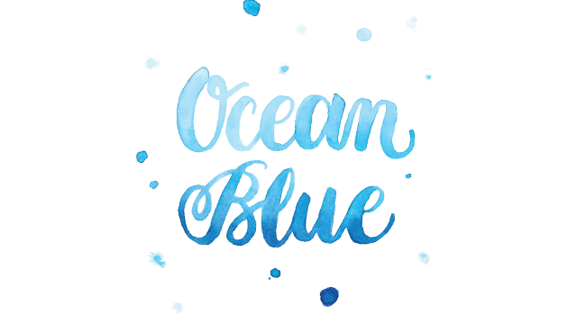 Ocean Blue Custom Hand Lettered Print