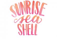 Sunrise Seashell Custom Hand Lettered Print