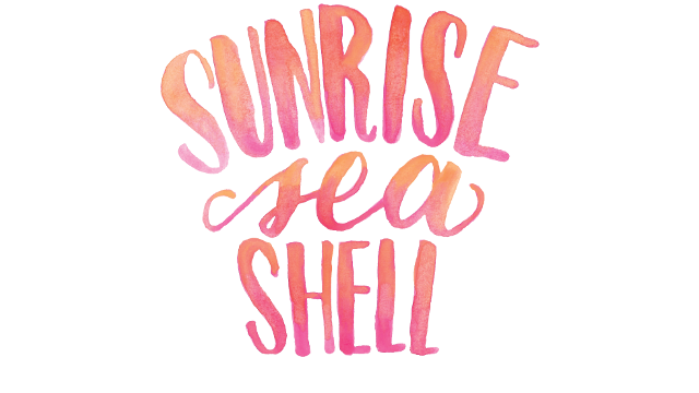 Sunrise Seashell Custom Hand Lettered Print